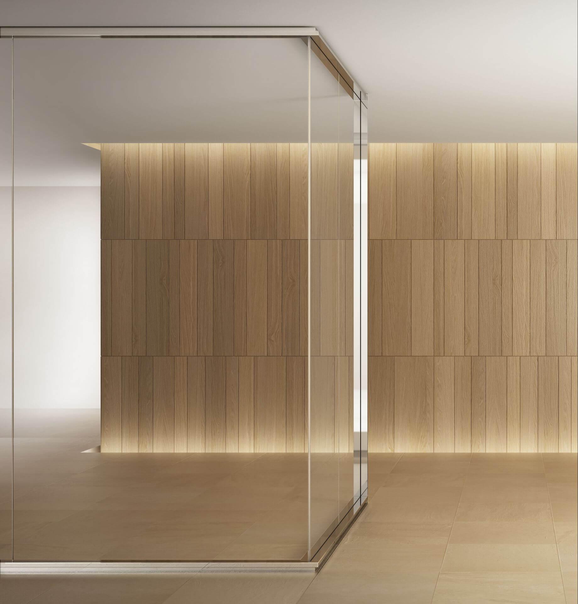 Parete Divisoria In Legno pareti divisorie in legno e vetro | pareti in legno e vetro