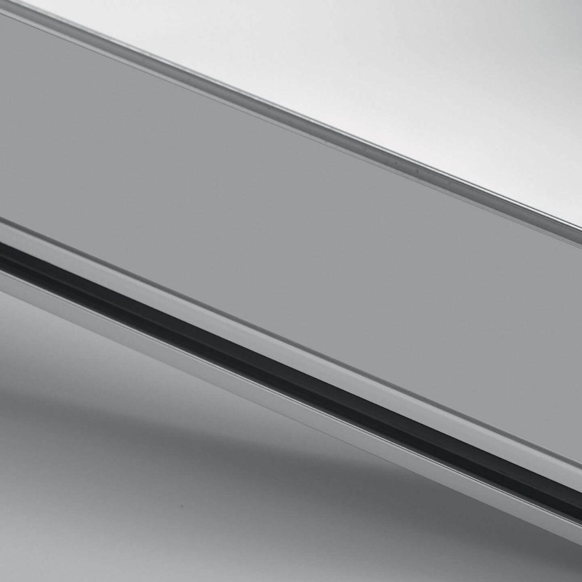 Finitura alluminio verniciato grigio per parete in vetro