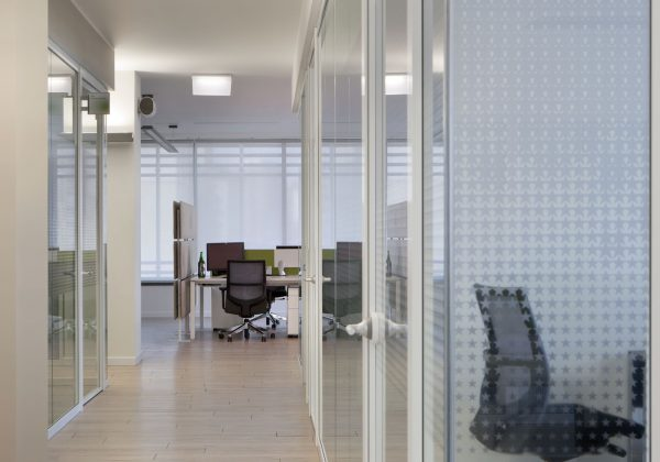 Pareti divisorie in alluminio e vetro uffici Heineken - Truelight