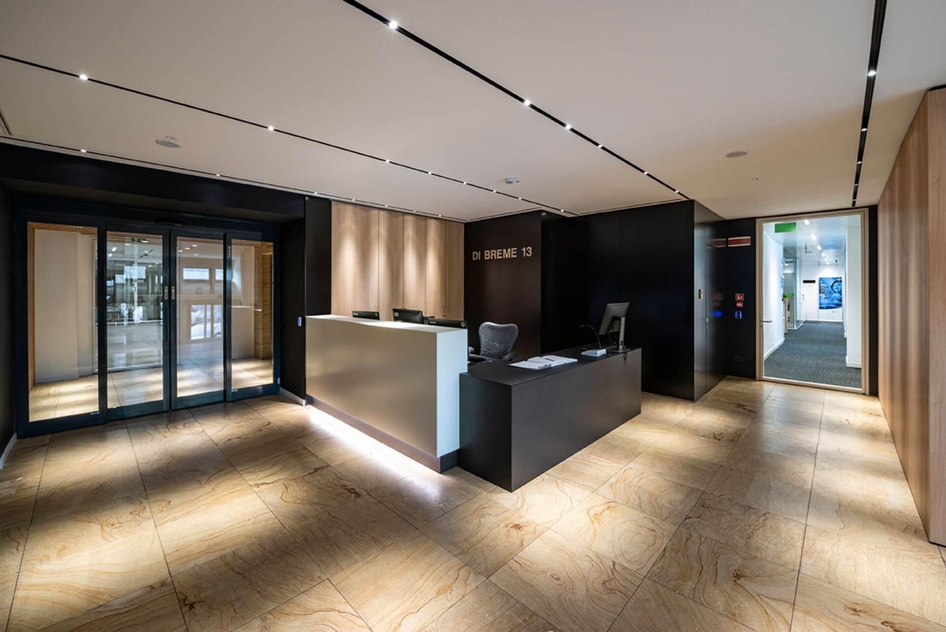 Parete Divisoria In Legno pareti divisorie in legno e vetro uffici bayer | pareti in