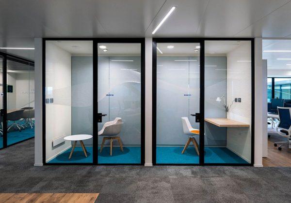 Pareti divisorie in alluminio uffici Fameccanica - Truelight