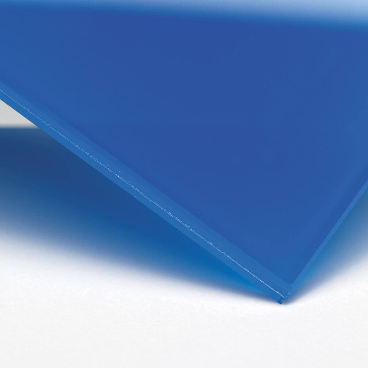 Finitura: Vetro con pellicola interna blu coprente