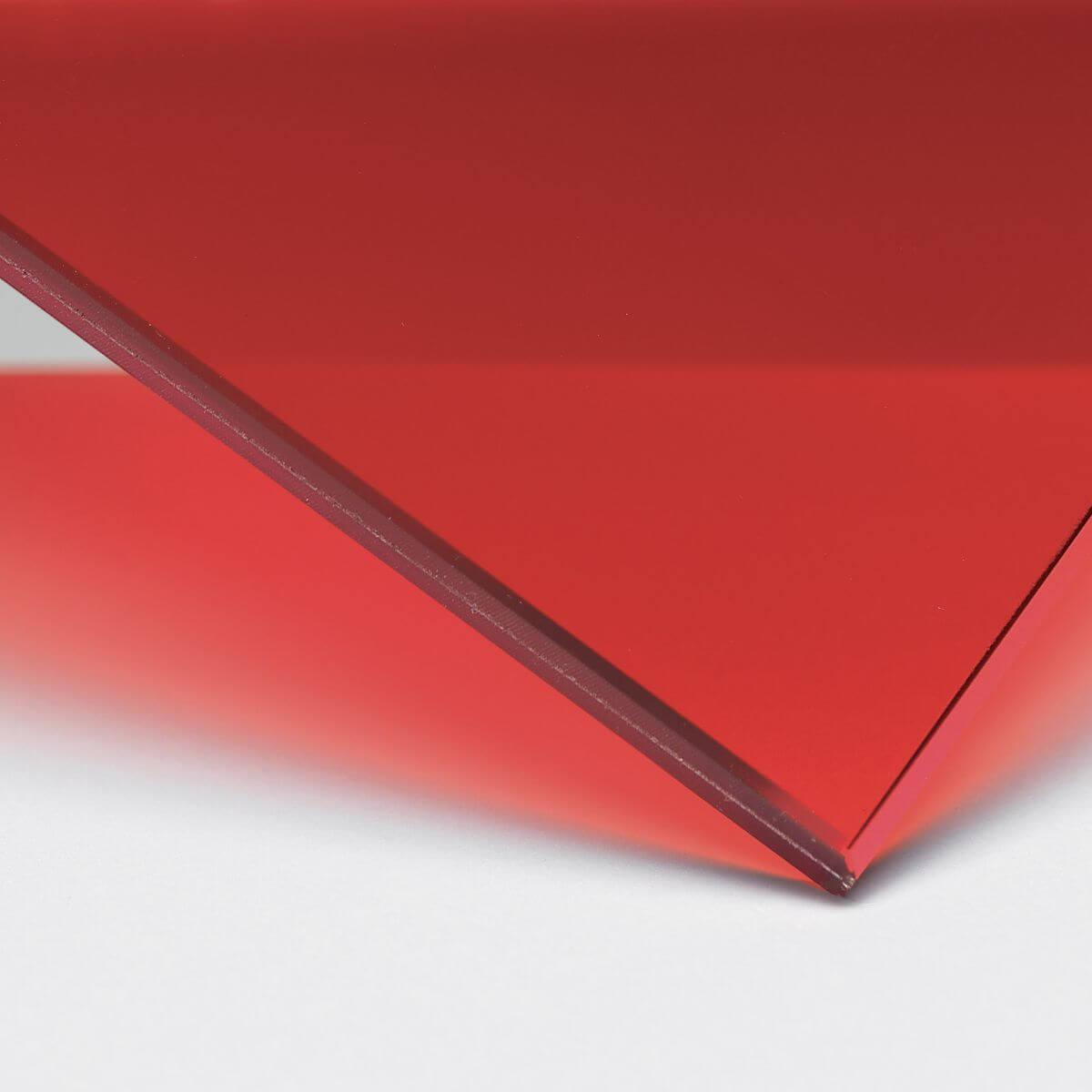 Finitura: Vetro con pellicola interna rossa trasparente